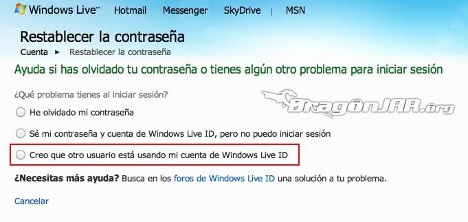 Recupear Hotmail 1 ¿Cómo Recuperar una Cuenta de MSN Messenger / Hotmail?