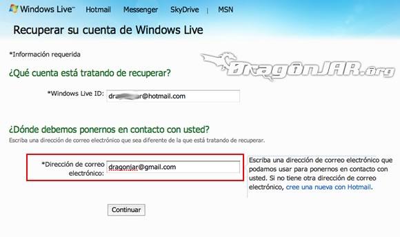 Recuperar Hotmail 4 ¿Cómo Recuperar una Cuenta de MSN Messenger / Hotmail?