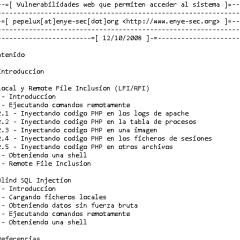 Vulnerabilidades Web que Permiten Acceder al Sistema