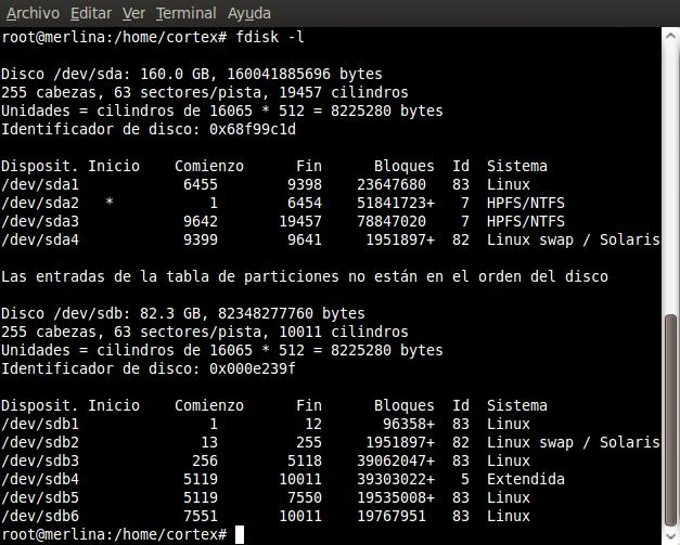 Migrar instalación de Linux a una partición ó disco diferente