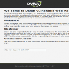 DVWA – Damn Vulnerable Web App