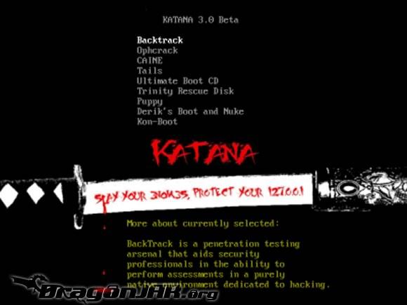 Katana – Múltiples Distribuciones de Seguridad en tu USB