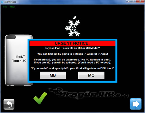 11.Snowbreeze Jailbreack al iPhone, iPod Touch con Firmware 4.1 y error al Restaurar