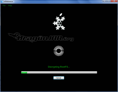 12.Snowbreeze Jailbreack al iPhone, iPod Touch con Firmware 4.1 y error al Restaurar