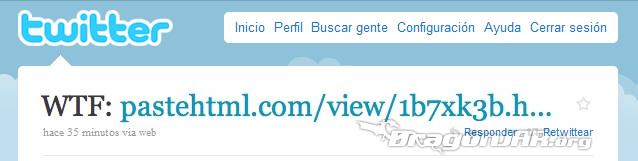 Twitter2 Nuevo Gusano en Twitter