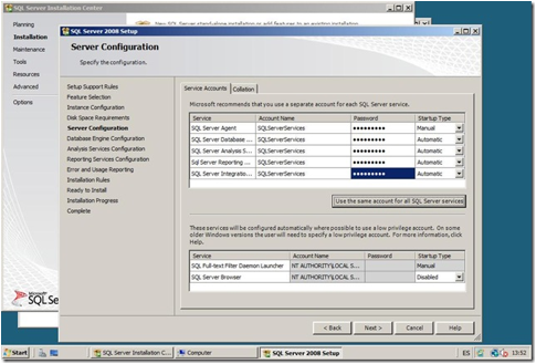 Descripción: ServerConfiguration
