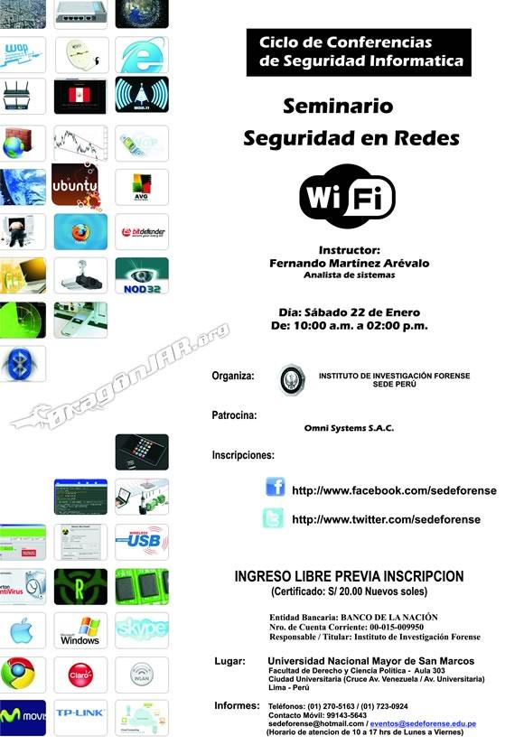 CursoSeguridadWifi Seminarios de Seguridad Informatica Gratis en Perú