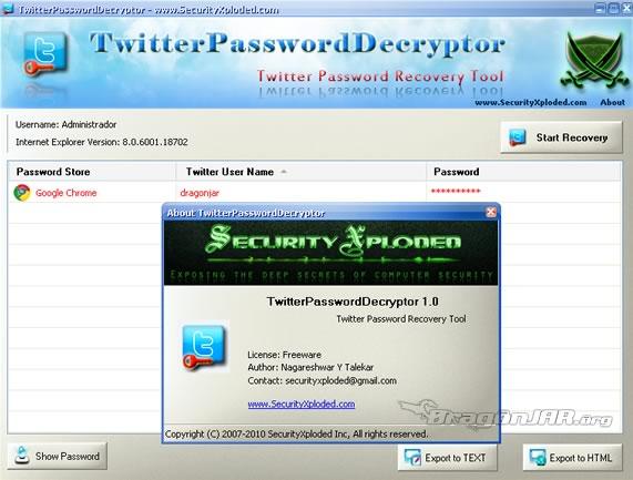 TwitterPassword Recupera tu Password de Twitter