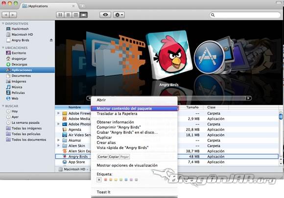 Instalar angry birds gratis para Mac