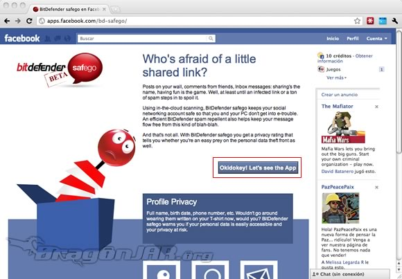 FacebookAV Antivirus para tu Facebook