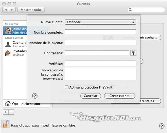 Configurar usuario Invitado Mac