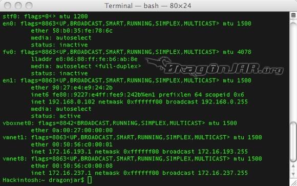 IPv6 Mac 2 Configurando IPv6 en nuestro equipo