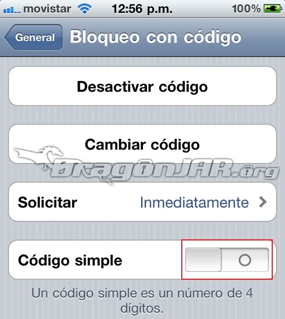 CodigoBloqueo5 Recuperar el Codigo (Contraseña) de iPhone, iPod Touch o iPad