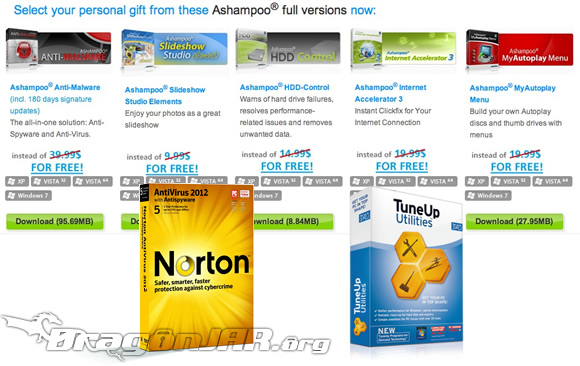 Gratis Norton AntiVirus, Norton Internet Security, Ashampoo Anti Malware y otros GRATIS