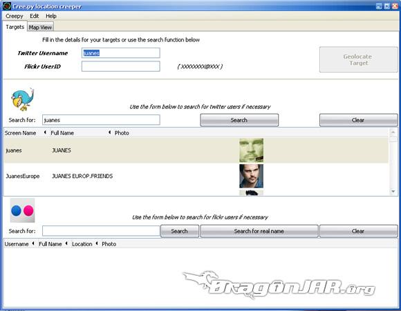 Juanes GPS1 Cómo localizar usuarios de twitter y flickr a través de sus fotos