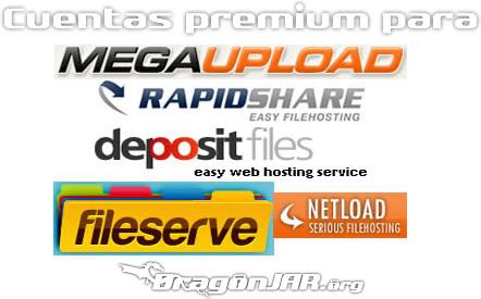 Premium Cuentas Premium de Megaupload, Rapidshare, Hotfile, Fileserve, FileSonic