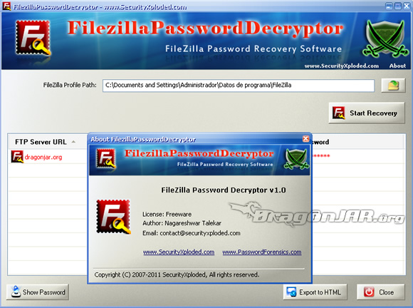 Password Filezilla Recupera tu Password de FileZilla