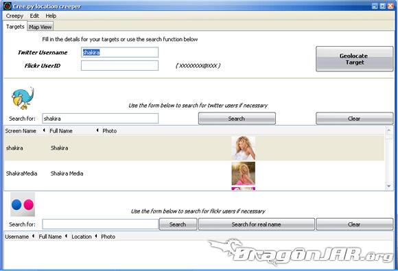 Shakira GPS1 Cómo localizar usuarios de twitter y flickr a través de sus fotos