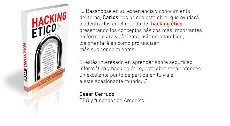 Descarga el libro Hacking Etico Gratis