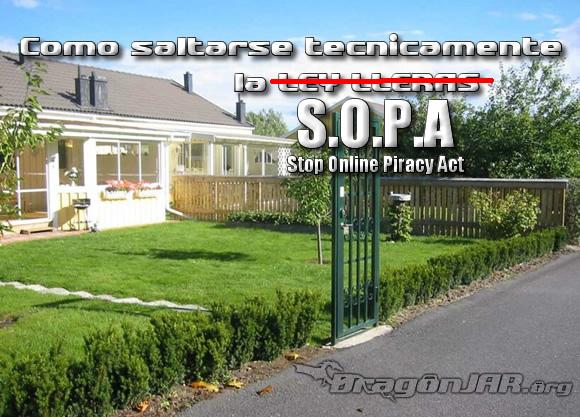 Parar Sopa Como saltarse técnicamente la SOPA