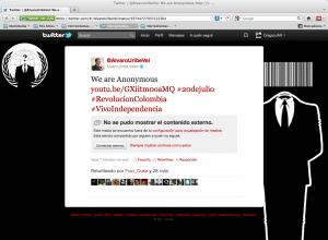 Uribenonimous 300x220 De independencia, Medios de Comunicación, Twitter y Facebook