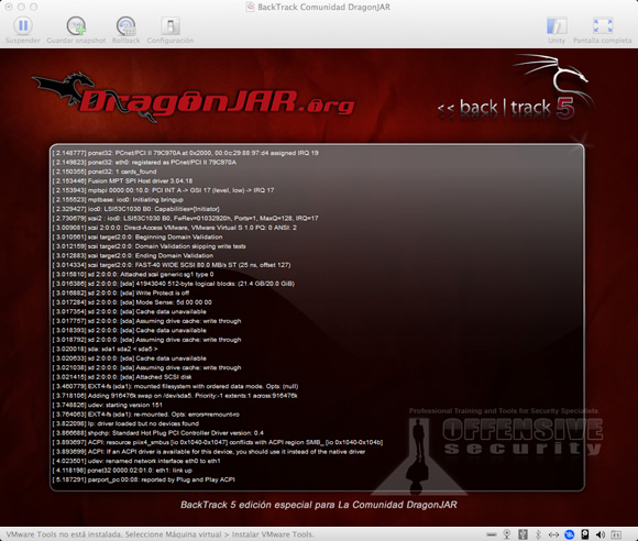 BT5 DragonJAR Edition BackTrack 5 R3 personalizado para La Comunidad DragonJAR