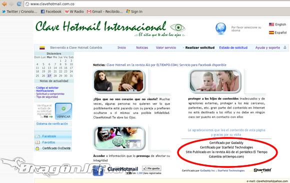 ClaveHotmail Fraude 1 ClaveHotmail.com cometiendo delitos desde el 2007