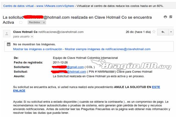 ClaveHotmail Fraude 2 ClaveHotmail.com cometiendo delitos desde el 2007