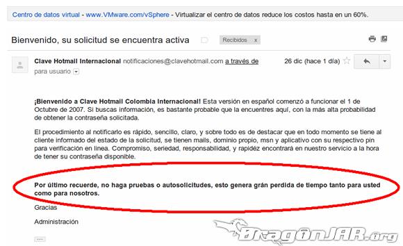 ClaveHotmail Fraude 3 ClaveHotmail.com cometiendo delitos desde el 2007