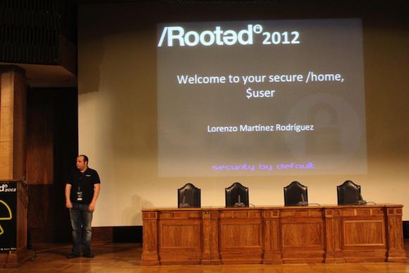Lorenzo Crónica segundo día de Conferencias RootedCon 2012