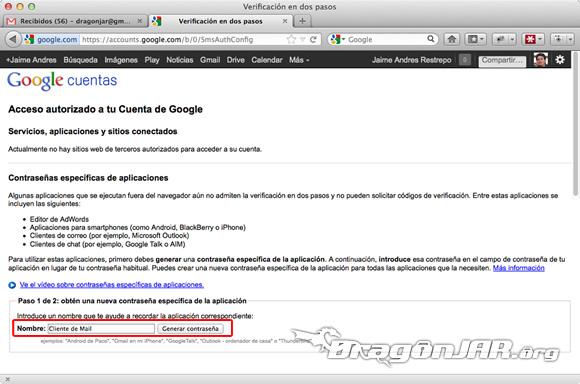 Configurar Gmail Seguro 10 Configurar GMail de forma segura