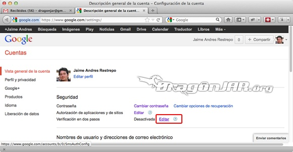 Configurar Gmail Seguro 2 Configurar GMail de forma segura