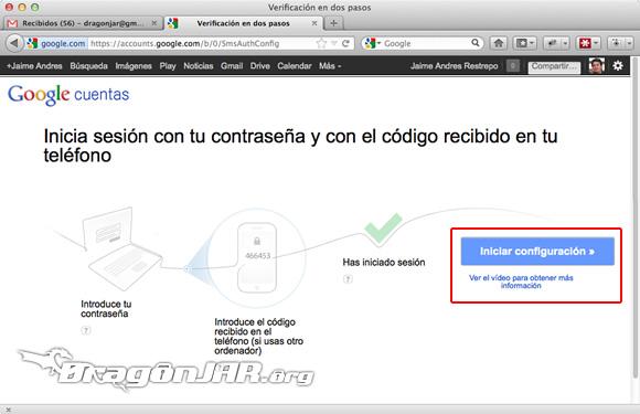 Configurar Gmail Seguro 3 Configurar GMail de forma segura