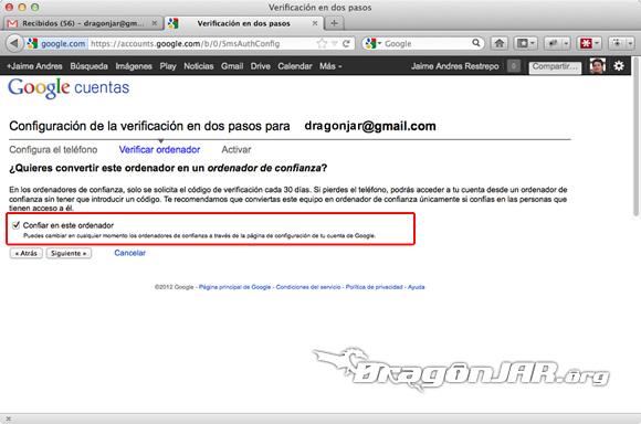 Configurar Gmail Seguro 5 Configurar GMail de forma segura