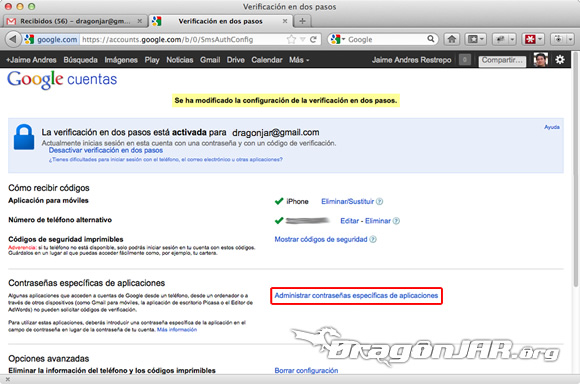 Configurar Gmail Seguro 9 Configurar GMail de forma segura