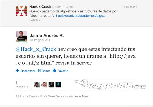 Análisis de un malware de infección automática, caso @Hack_x_Crack – Parte I