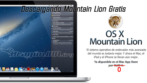 Descargando Mac OS X Mountain Lion Descargar Mac OS X Mountain Lion Gratis
