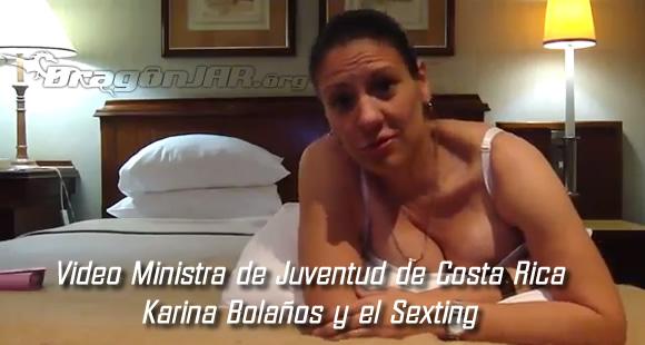 Video Ministra de Juventud de Costa Rica Karina Bolaños y el Sexting
