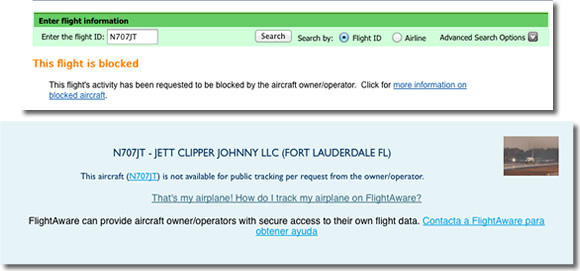 Avion Bloqueado Los aviones de los famosos no son tan privados