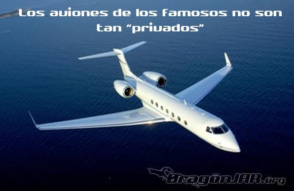 Los aviones de los famosos no son tan privados
