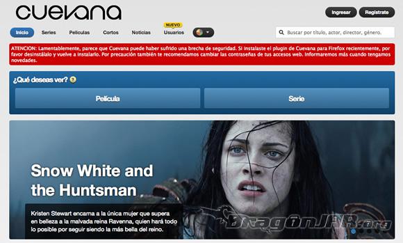 Cuevana.tv y su plugin espia