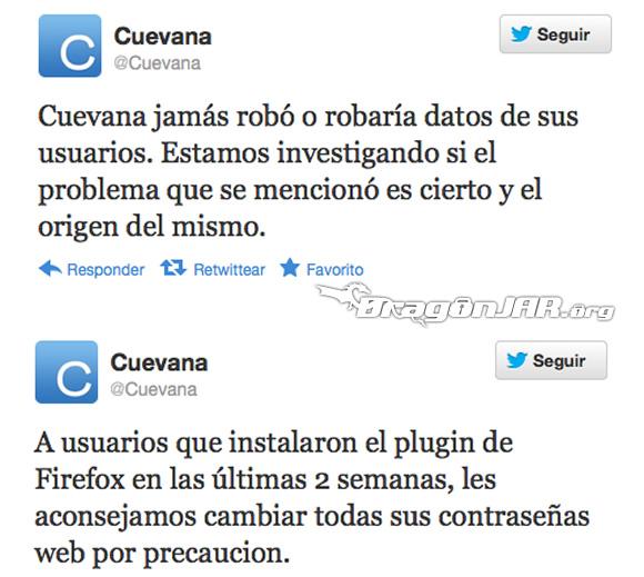 CuevanaTVTwitte Cuevana.tv y su plugin espia