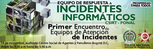 Primer Encuentro de Equipos de Respuesta de Incidentes Informáticos CSIRT