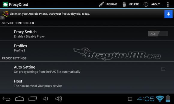 ProxyDroid Dispositivos Android como herramientas para test de penetración