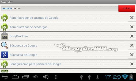 Taskkill Dispositivos Android como herramientas para test de penetración