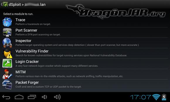 dSploit 1 Dispositivos Android como herramientas para test de penetración