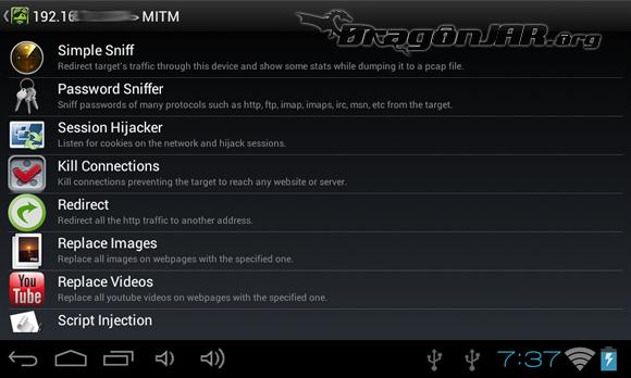dSploit 6 Dispositivos Android como herramientas para test de penetración