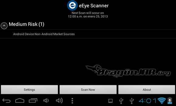 eEye Scanner Dispositivos Android como herramientas para test de penetración