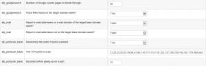 SpiderFoot obteniendo información de un dominio web