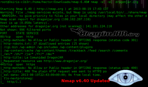 Nueva versión de NMAP, mira sus nuevas funcionalidades